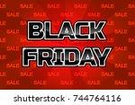 vector black friday sale... | Shutterstock .eps vector #744764116