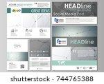 social media posts set.... | Shutterstock .eps vector #744765388