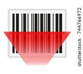 bar code scanning   Shutterstock .eps vector #744766972