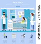 patient care visualization with ... | Shutterstock .eps vector #744767002