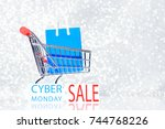 cyber monday sale promotion for ... | Shutterstock . vector #744768226