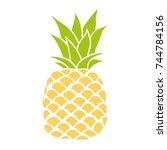 pineapple  fruit  illustration | Shutterstock . vector #744784156