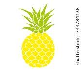 pineapple  fruit  illustration | Shutterstock . vector #744784168