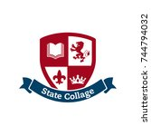 university  college and academy ... | Shutterstock .eps vector #744794032