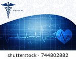 2d illustration health care and ... | Shutterstock . vector #744802882