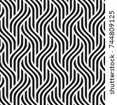 vector seamless pattern. modern ... | Shutterstock .eps vector #744809125