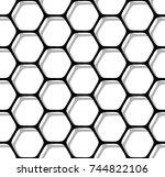 seamless hexagons pattern.... | Shutterstock .eps vector #744822106