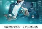 automation software technology... | Shutterstock . vector #744825085