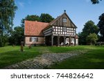 old traditional wooden house... | Shutterstock . vector #744826642