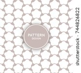 seamless pattern design  ... | Shutterstock .eps vector #744826822
