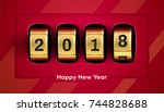 happy new year background with...   Shutterstock .eps vector #744828688