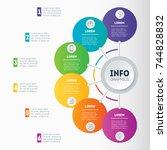 business presentation or... | Shutterstock .eps vector #744828832