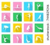 illustration set of icons   on...   Shutterstock .eps vector #744829246