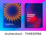 minimal covers or posters... | Shutterstock .eps vector #744830986