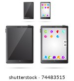 vector illustration of tablet... | Shutterstock .eps vector #74483515