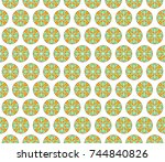 colorful seamless pattern for... | Shutterstock . vector #744840826
