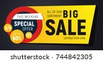 wide sales banner for your... | Shutterstock .eps vector #744842305