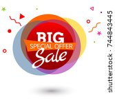special offer banner. promotion ... | Shutterstock .eps vector #744843445