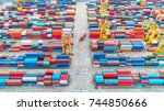 container container ship in... | Shutterstock . vector #744850666