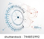 vector industrial and... | Shutterstock .eps vector #744851992