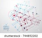 futuristic abstract vector... | Shutterstock .eps vector #744852202