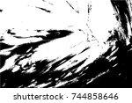grunge paint texture overlay.... | Shutterstock .eps vector #744858646
