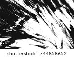 grunge paint texture overlay.... | Shutterstock .eps vector #744858652