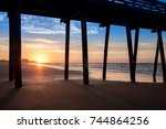 sunrise in ocean city. | Shutterstock . vector #744864256