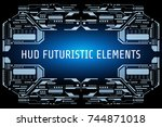 hud futuristic elements... | Shutterstock .eps vector #744871018