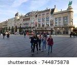 antwerp  belgium   october 18 ... | Shutterstock . vector #744875878