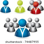 business people icon set in... | Shutterstock .eps vector #74487955