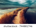 uncertainty  doubt and... | Shutterstock . vector #744881746