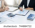 administrator business man... | Shutterstock . vector #744884722