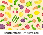 seamless background with simple ...   Shutterstock .eps vector #744896128