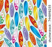 background pattern with... | Shutterstock .eps vector #744898255