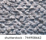 wall background. geometric... | Shutterstock . vector #744908662
