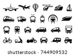 icons of various means of... | Shutterstock .eps vector #744909532