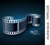 vector realistic 3d film reel   Shutterstock .eps vector #74491135