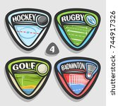vector set of sport logos  4