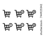 shopping carts icon collection  ...
