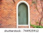 old door wall. | Shutterstock . vector #744925912