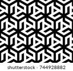 vector monochrome seamless... | Shutterstock .eps vector #744928882