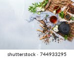 food and drink  still life... | Shutterstock . vector #744933295