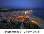 Panorama Of Nazare In Portugal...