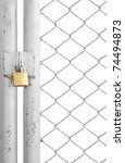 Chain Link Fence And Metal Doo...
