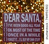 Humorous Sign For Santa