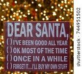 humorous sign for santa