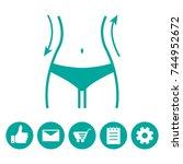women waist and icons menu....   Shutterstock .eps vector #744952672