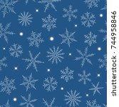 seamless pattern from... | Shutterstock .eps vector #744958846