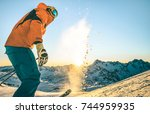Expert Professional Skier At...